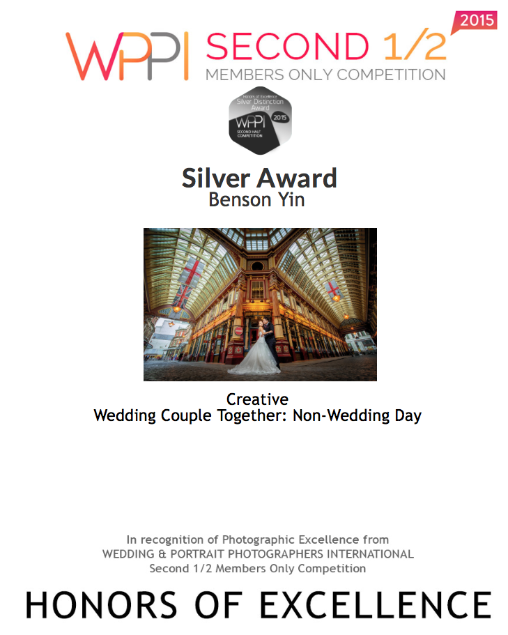2015: Second Half : - Wedding Couple Together: Non-Wedding Day Silver