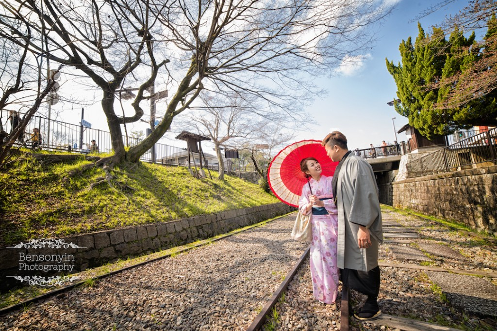 japan sakura pre-wedding