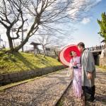 japan sakura pre-wedding