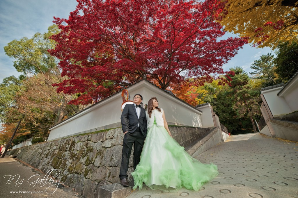 kyoto colourful autumn pre-wedding